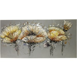 Flowers in Winter Bloom Painting Print on Canvas by ESSENTIAL DÉCOR & BEYOND, INC