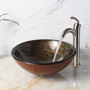 bathroom vessel sinks. Hot Melted Rock Pattern Glass Bowl Circular Vessel Bathroom Sink Sinks You ll Love