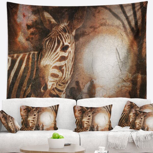 Vintage Style African Zebra Tapestry and Wall Hanging by East Urban Home