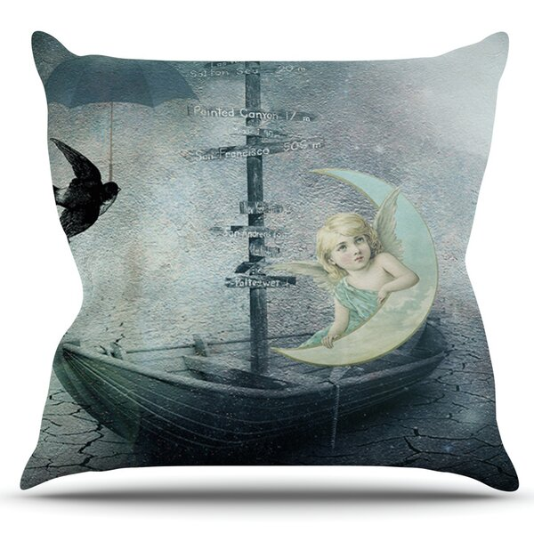 Rain by Suzanne Carter Outdoor Throw Pillow by East Urban Home