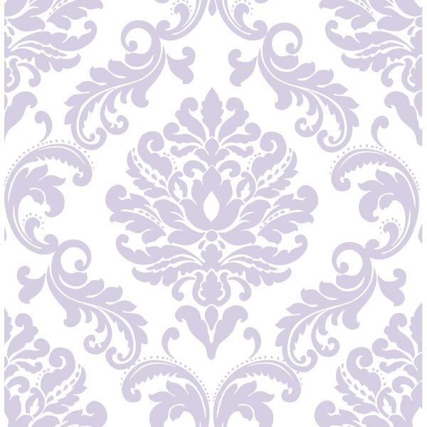 Purple Ariel Peel And Stick Wallpaper Roll by WallPops!