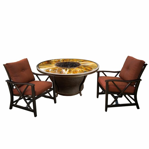 Paxtonville 3 Piece Conversation Set with Cushions by Darby Home Co