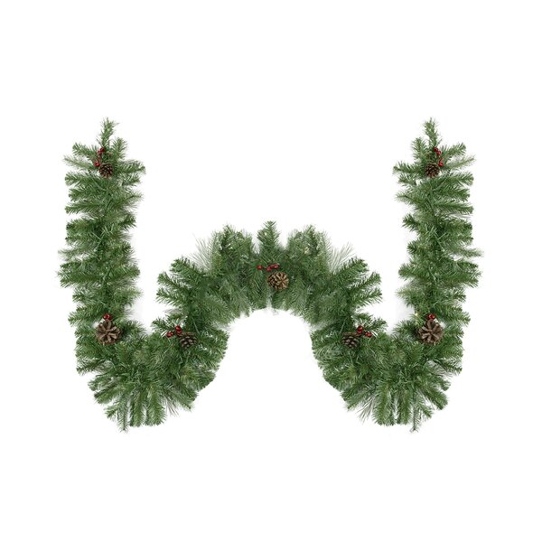 Noble Fir with Red Berries and Pine Cones Artificial Christmas Garland by Northlight Seasonal