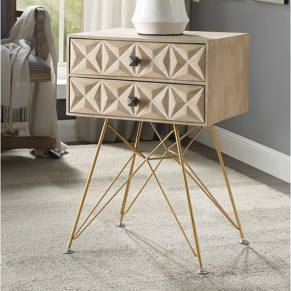 Hadfield End Table with Storage by Bungalow Rose