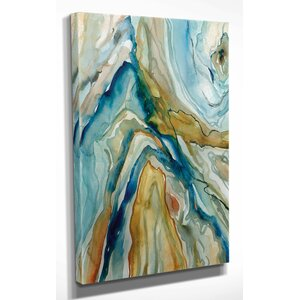 'Geo Formation I' by Carol Robinson Painting Print on Wrapped Canvas by Wexford Home