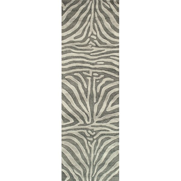 Surfside Hand-Tufted Grey Area Rug by World Menagerie