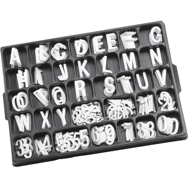 Universal Single Tab Helvetica Typeface Changeable Letters (160 characters per set) by AARCO