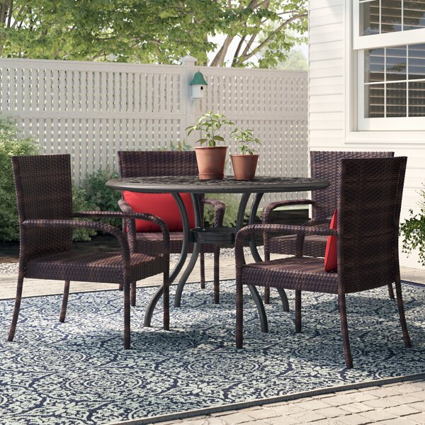 Magallon Stacking Patio Dining Chair (Set Of 4) By Darby Home Co