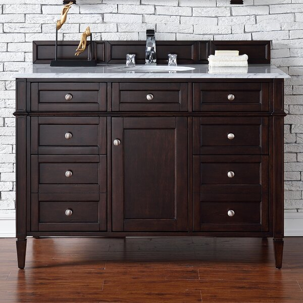 Deleon Traditional 48 Single Burnished Mahogany Bathroom Vanity Set by Darby Home Co