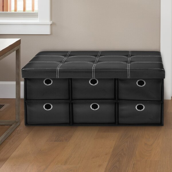 Stefania Collapsible Storage Ottoman By Winston Porter