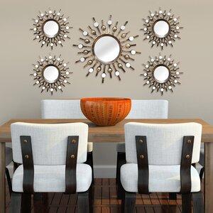 5 Piece Sunburst Mirror Set