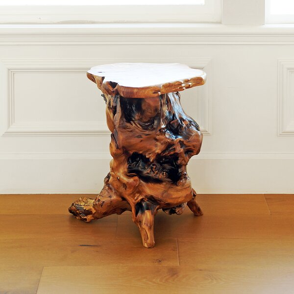 Root Wood End Table by Welland LLC