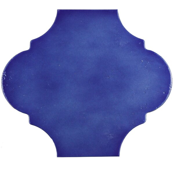 Marr 10.38 x 11.38 Porcelain Field Tile in Cobalt Blue by EliteTile