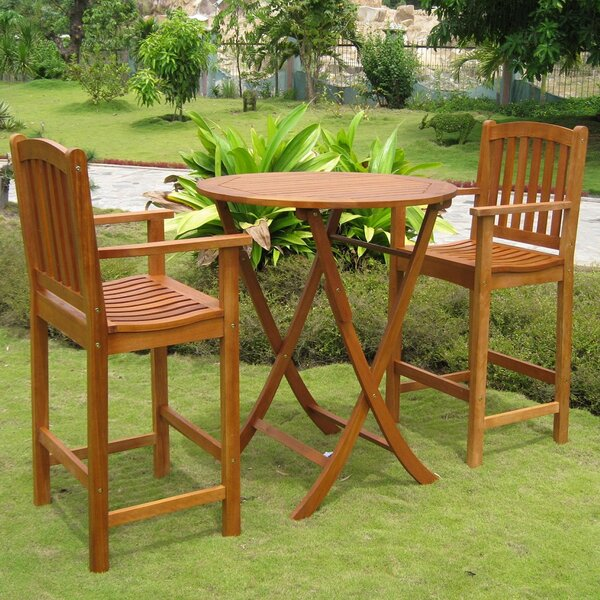 Sabbattus 3 Piece Bistro Set by Breakwater Bay