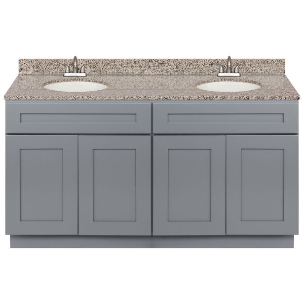 Strauser 60 Double Bathroom Vanity Set by Winston Porter