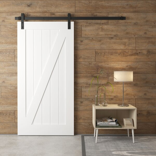 California Z-Panel Solid Wood Interior Barn Door by Urban Woodcraft