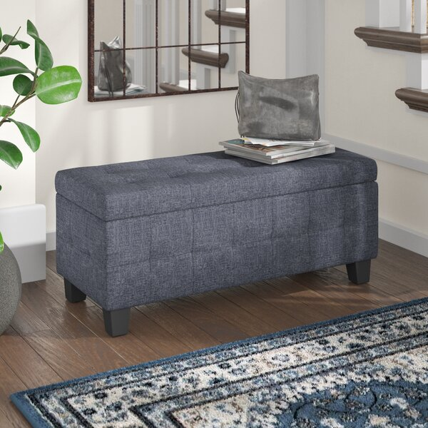 Massimo Upholstered Storage Bench by Wade Logan Wade Logan