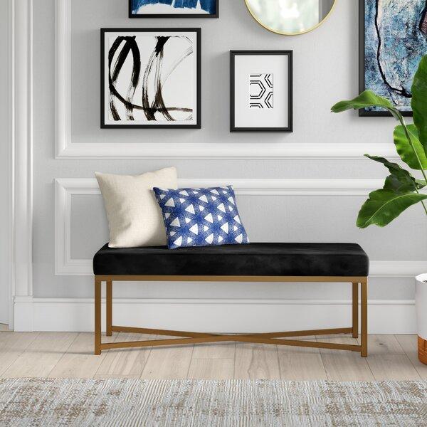 Lonon Rectangle Velvet Bench By Mercury Row 2019 Online