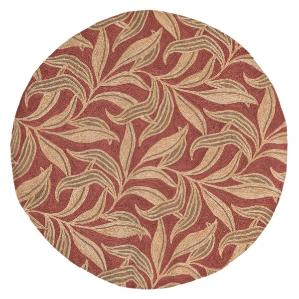 Demirhan Red Leaf Outdoor Rug by Bay Isle Home