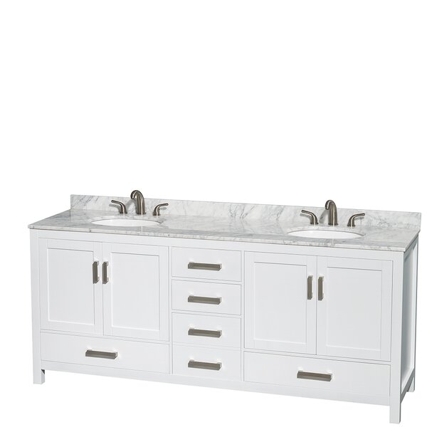 Sheffield 80 Double Bathroom Vanity Set by Wyndham Collection
