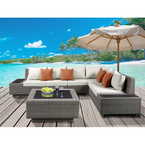 Winebarger 5 Piece Sectional Set with Cushions by Orren Ellis