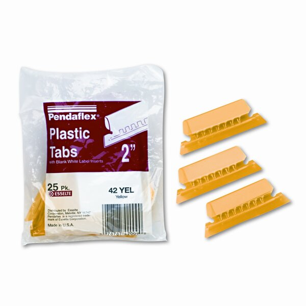 Hanging File Folder Tabs, 1/5 Tab, Two Inch, 25/Pack by Esselte Pendaflex Corporation