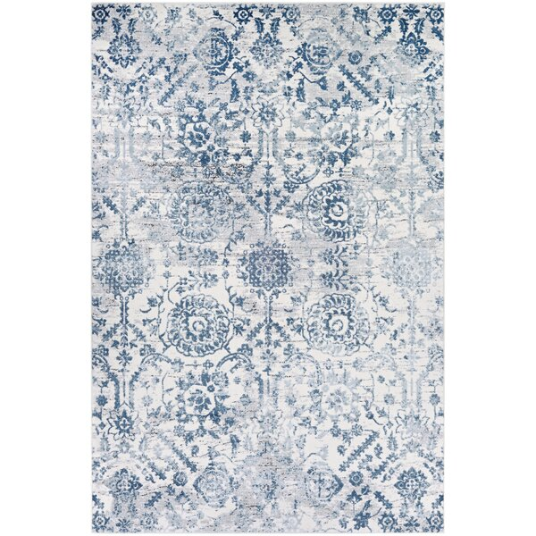 Emily Steel Blue Area Rug by The Twillery Co.