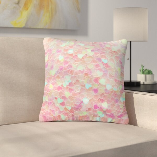 Debbra Obertanec Hearts Galore Love Outdoor Throw Pillow by East Urban Home