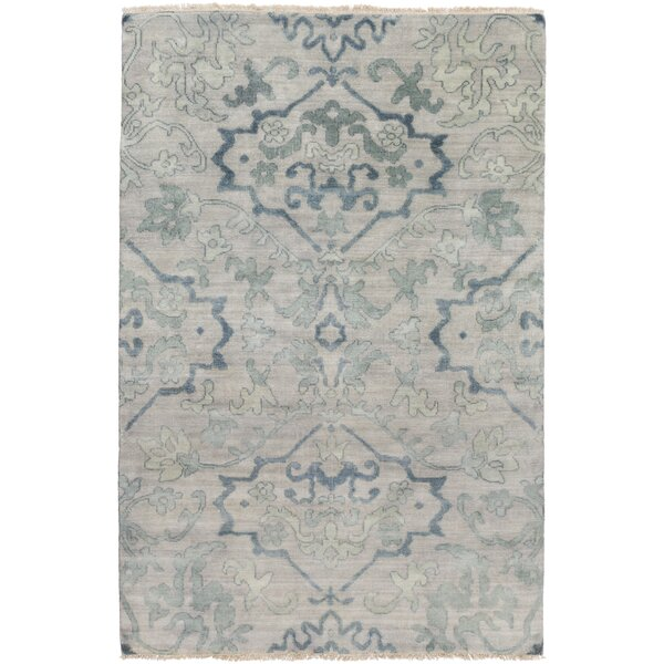 San Michele Hand-Knotted Gray Area Rug by Astoria Grand