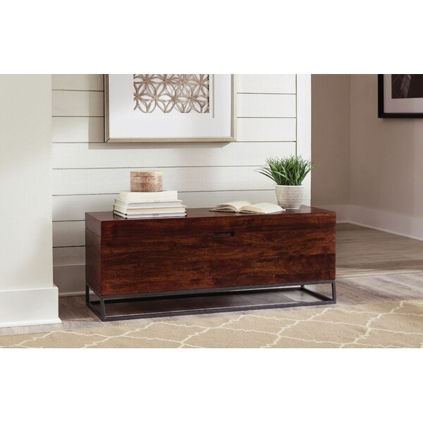 Rectangular Accent Bench Cinnamon And Black by Foundry Select
