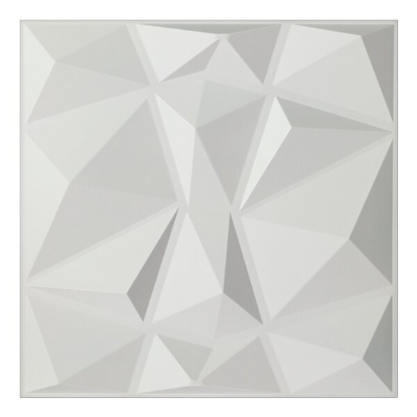 Wiegers Diamond 19.7 L x 19.7 W 3D Embossed Wallpaper Panel by Orren Ellis