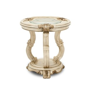 Platine De Royale Chairside Table by Michael Amini (AICO)