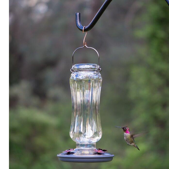 Starglow Glass Hummingbird Feeder