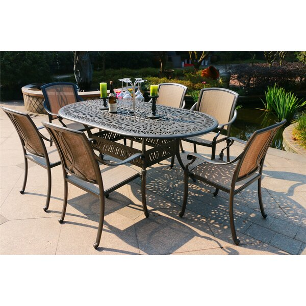 Barahona Aluminum 7 Piece Dining Set by Canora Grey