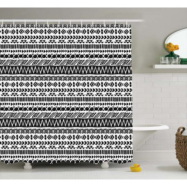 Bangs Aztec Mystic Old Figure Shower Curtain by Wrought Studio