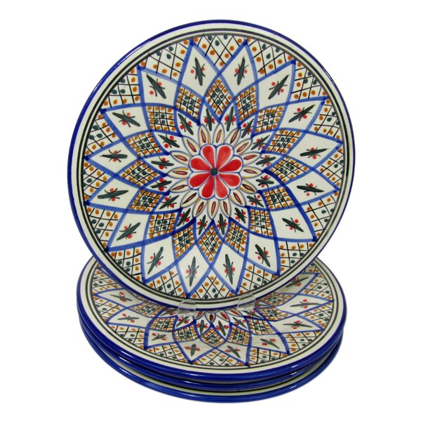 Tabarka Stoneware 11 Dinner Plate (Set of 4) by Le Souk Ceramique