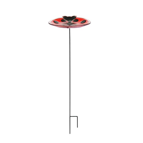 Ladybug Garden Birdbath by Continental Art Center