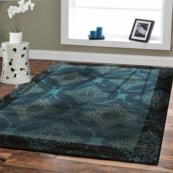 Baysden Distressed Blue Area Rug by Winston Porter