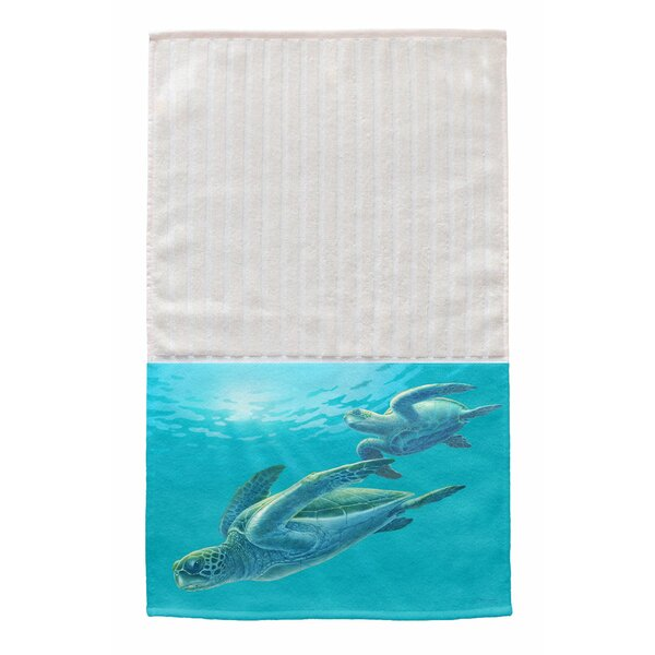 Sea Turtles Multi Face Hand Towel (Set of 2) by Live Free