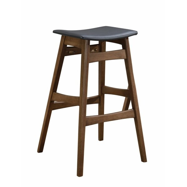 Olaughlin Mid-Century Angled Adjustable Height Bar Stool (Set of 2) by Union Rustic