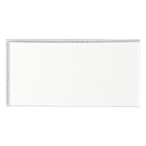 Secret Dimensions 3 x 6 Glass Subway Tile in White by Abolos