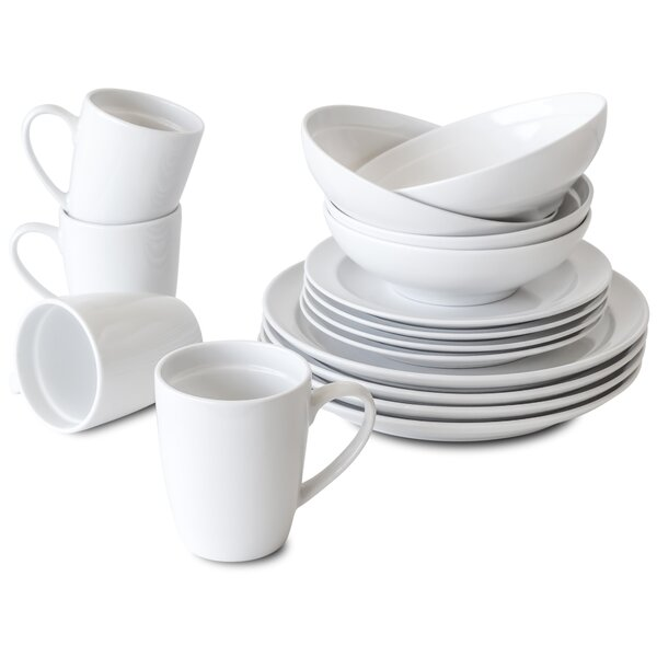 Vanwinkle 16 Piece Dinnerware Set, Service for 4 by Winston Porter