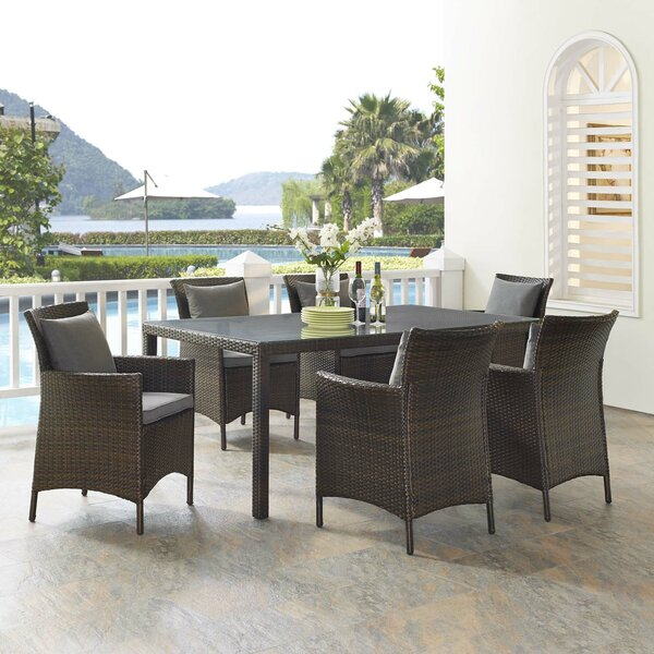 Solomon 7 Piece Dining Set by Bayou Breeze