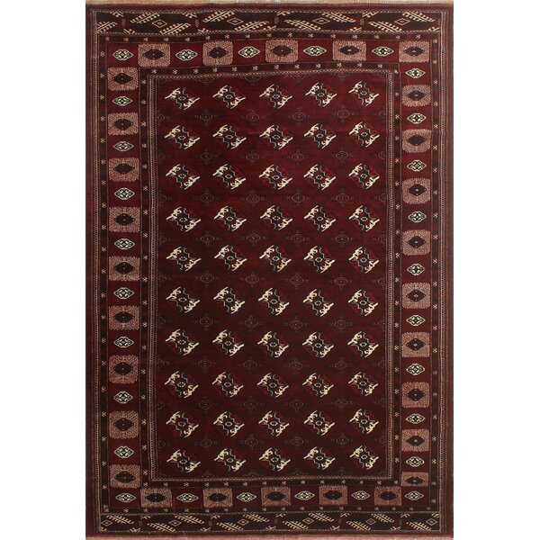 One-Of-A-Kind Brook Hand-Knotted Wool Burgundy Area Rug by Isabelline