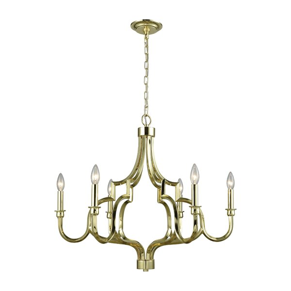 Harry 6 - Light Candle Style Classic / Traditional Chandelier by Darby Home Co Darby Home Co
