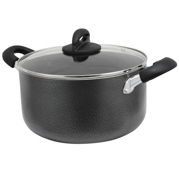 Lexie 6 Qt. Aluminum Round Dutch Oven by Symple Stuff
