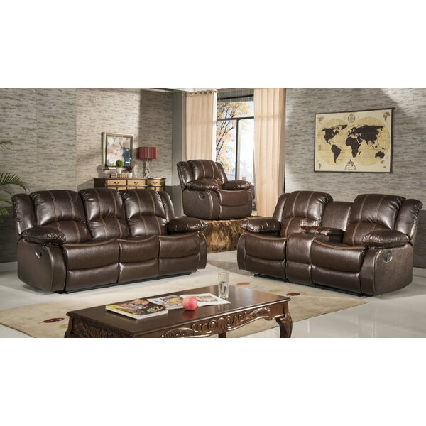 Okelley Reclining 2 Piece Living Room Set by Three Posts
