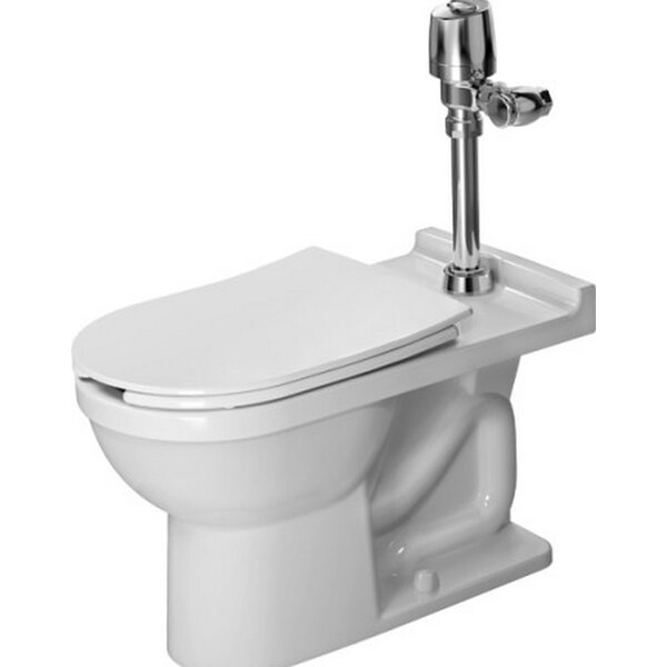 Starck 3 Floor Standing Verio Outlet 1.28 GPF Elongated One-Piece Toilet by Duravit