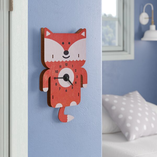 Erik Fox Pendulum Wall Clock by Viv + Rae