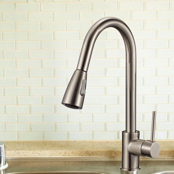 Single Handle Kitchen Faucet with Soap Dispenser by Upscale Designs by EMA